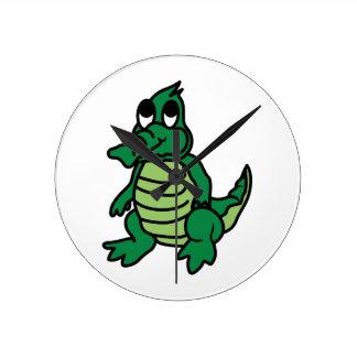Cute Gator Round Clock