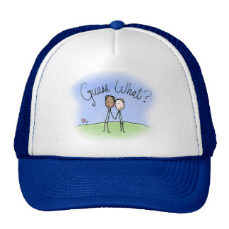 Cute Gay Couple Guess What Trucker Hat