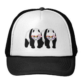 Cute Gay Pandas Rainbow Wearing Glasses Trucker Hat
