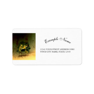 Cute gecko address label