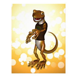 Cute gecko letterhead