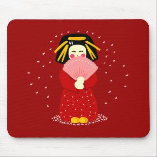 Cute Geisha Mouse Pad