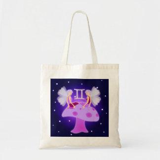 Cute Gemini Zodiac Tote Bag