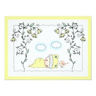 Cute Gender Neutral Yellow Baby Shower Invite
