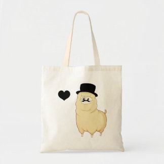 Cute Gentleman Alpaca Tote Bag
