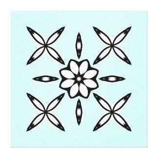 Cute geometric design on light blue canvas print