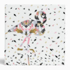 Cute geometric Flamingo abstract design 3 Ring Binder