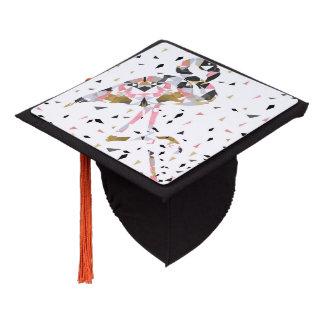 Cute geometric Flamingo abstract design Graduation Cap Topper