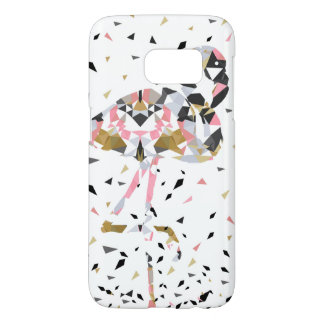Cute geometric Flamingo abstract design Samsung Galaxy S7 Case