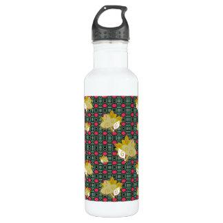 Cute Geometric Leaf Pattern Liberty Bottle 24oz Water Bottle