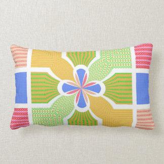 Cute Geometric Rainbow Squares Quatrefoil Center Pillow