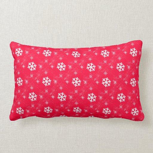 Cute Geometric  Snow Flakes Throw Pillows