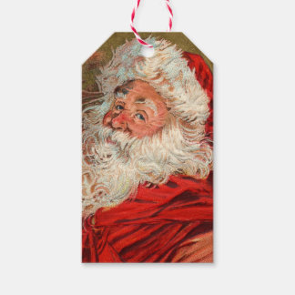 Cute German Santa Claus Christmas Gift Tags