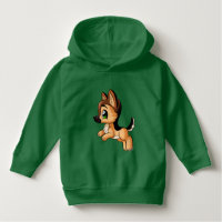 Cute German Shepherd Dog Art Toddler Hoodie Outfit