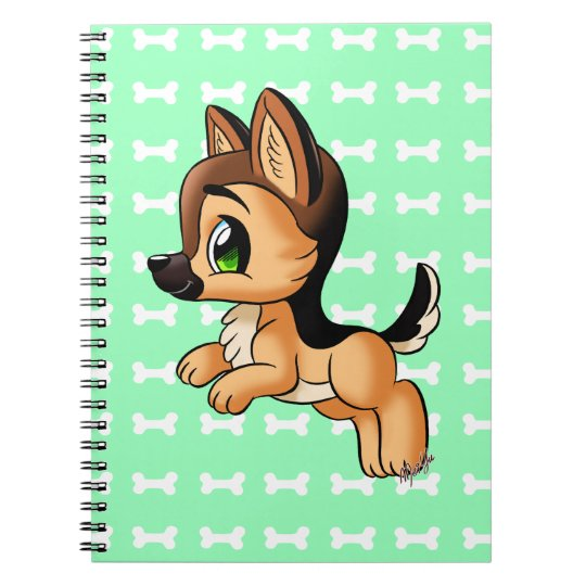 Cute German Shepherd Puppy Art Notebook Zazzle Com