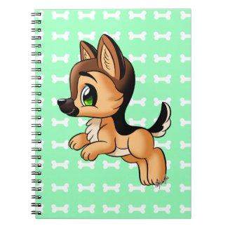 Cute German Shepherd Puppy Notebook