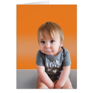 Cute Get Well Card - Orange