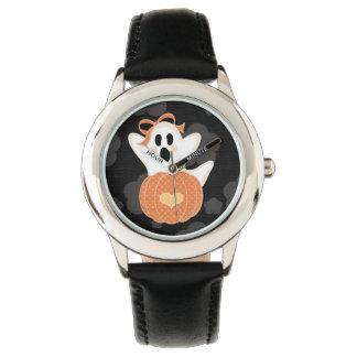 Cute Ghost and Pumpkin Wrist Watch