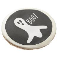 Cute Ghost Boo Halloween Party Treats Sugar Cookie