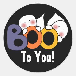 Cute Ghost Boo To You! Classic Round Sticker