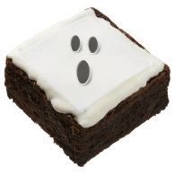 Cute Ghost Face Halloween Party Treats Brownie