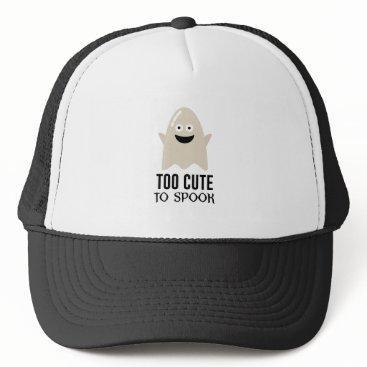 Halloween Themed Cute Ghost Ghoul Halloween Design Trucker Hat