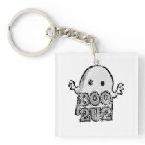 Cute Ghost Halloween Boo 2U2 square Keychain