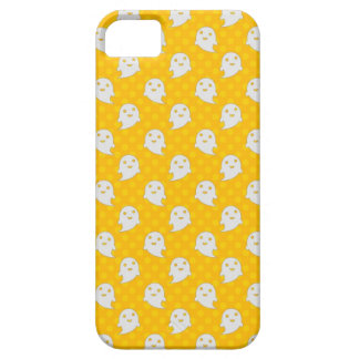 Cute Ghost Halloween Design Yellow Polka Dots iPhone SE/5/5s Case