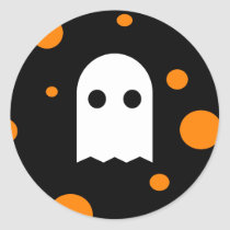 Cute Ghost Halloween Stickers for Kids