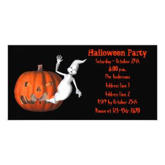 Cute Ghost Jack O Lantern Halloween Invite