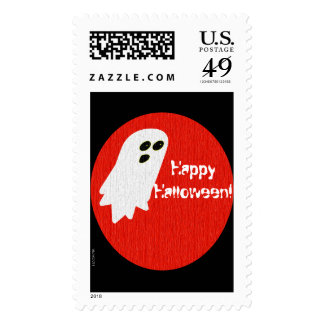 Cute Ghost Party Halloween Pattern Postage
