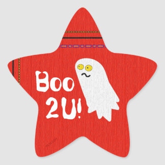 Cute Ghost Party Halloween Star Sticker