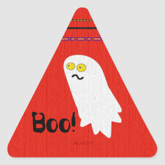Cute Ghost Party Halloween Triangle Sticker