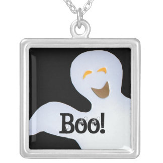Cute Ghost Silver Plated Necklace