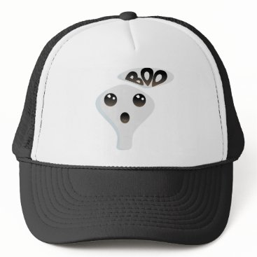 Halloween Themed Cute ghost trucker hat