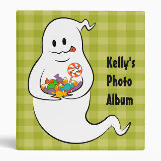 Cute ghost with Halloween candies Binder