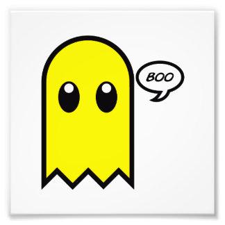 cute ghost yellow spooky boo photo print
