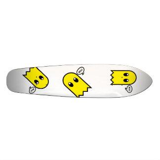 cute ghost  yellow spooky boo skateboard decks