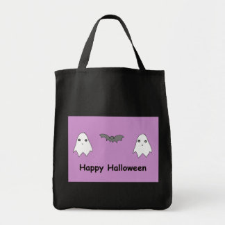 Cute Ghosts and Bat Friends Tote Bag