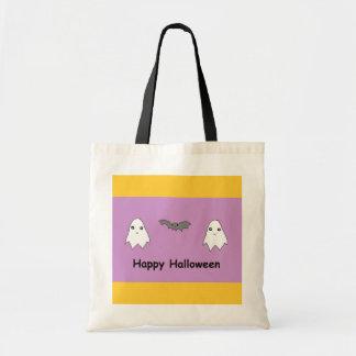 Cute Ghosts and Bat Friends Canvas Bag