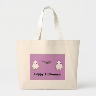 Cute Ghosts and Bat Friends Canvas Bags