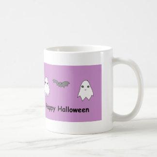 Cute Ghosts and Bat Friends Coffee Mug