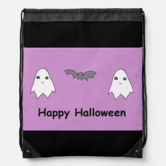 Cute Ghosts and Bat Friends Cinch Bag
