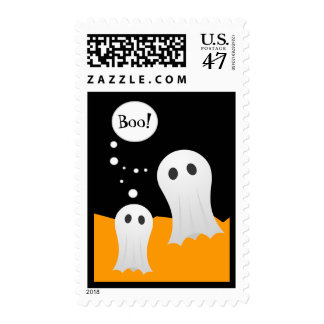 Cute Ghosts Halloween stamps