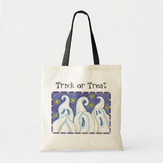 Cute Ghosts Halloween Trick or Treat bags! Budget Tote Bag