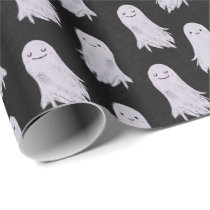 Cute Ghosts Pattern Halloween Wrapping Paper