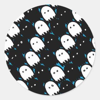 Cute Ghosts Classic Round Sticker