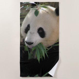Cute giant panda bear beach towel
