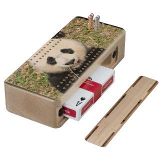 Cute Giant Panda Bear Cribbage Board