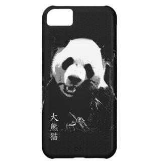 Cute Giant Panda Bear Cub Eating Bamboo Leaves Cover For iPhone 5C